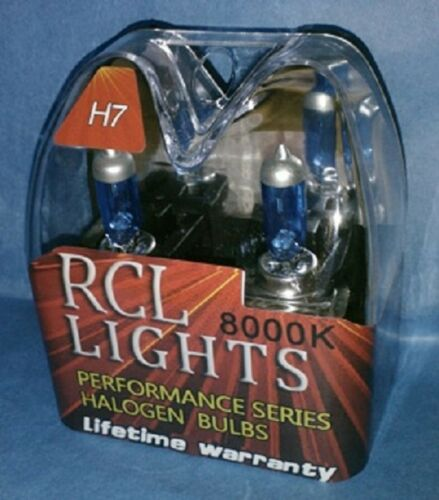 Bright white headlights NEW 55W H7 xenon HID look 8000K halogen low beam bulbs