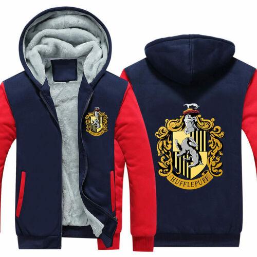 Harry Potter Hoodie Sweatshirt Zipper Print Sweater Winter Thicken Coat Jacket