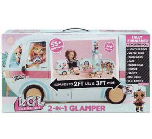 1 glamper FASHION Camper con 55 Sorprese Nuovo di Zecca LOL sorpresa 2-in