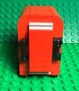 Lego New Red Retro Fridge Moc Mini Figures Kitchen