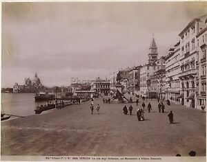 Venezia Italia Vintage Albumina Ca 1880