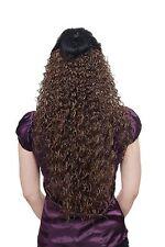 Postiche,Demi-perruque,Clip,Extension,bouclée,braun,Longueur : env. 70cm,