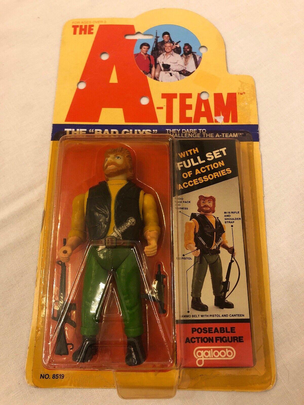Galoob 1983 A-Team Acción Figura Vintage Moc los malos Viper francotirador Barba Roja