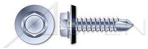 1000-pcs-14-X-1-1-2-034-Self-Drill-Screws-with-Sealing-Washer-Steel-Zinc