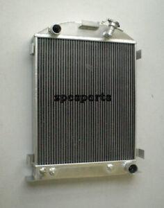 ALL ALUMINUM RADIATOR FORD-Model 1937-1938 CHEVY-V8-Engine 3 ROW Stock Height