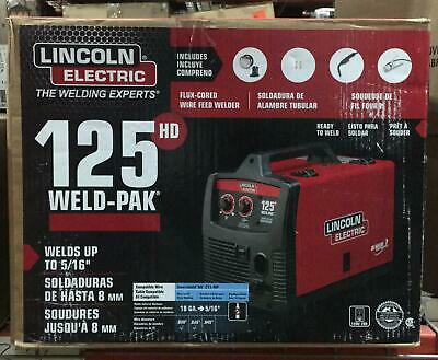 Lincoln Electric 125 Amp Weld Pak 125 Hd Flux Cored Welder 752025284780 Ebay