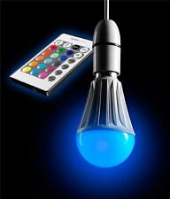 AURAGLOW 10w Remote Control Colour Changing LED Light Bulb B22, Dimmable
