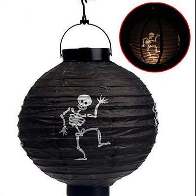 Vintage Halloween Festival Party Decor LED Pumpkin Spider DIY Paper Lantern M