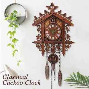 Antique Vintage Cuckoo Wall Clock Art Swing Handcraft Home Restaurant Decor 2021