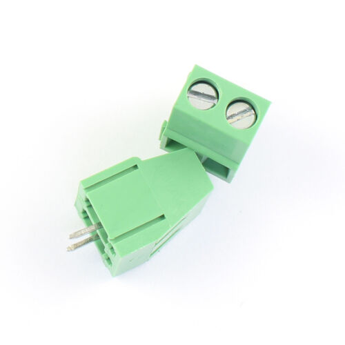 100Pcs 5mm 5.0mm Pitch 2 Pin Straight Screw Terminal Block Connector 300V 15A