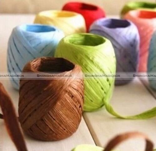 1 Roll 20 Meters Raffia Twine Paper Ribbon for Gift Box decorative Packing S7