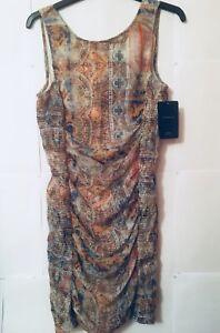 e64a4c25 Image is loading ZARA-Trafaluc-Graphic-Paisley-Print-Crinkle-Dress-UK-