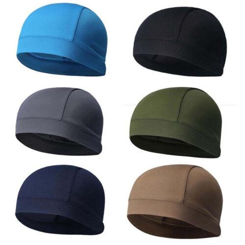 Unisex Dome Cap Spandex Helmet Liner Sports Biker Running Beanie Hat Head Wrap