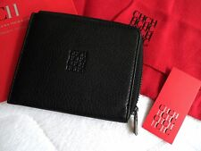 Genuine CAROLINA HERRERA Black Leather WALLET IN DUST BAG For Notes Coins Cards