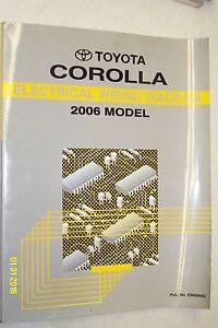 2006 Toyota Corolla Electrical Diagram Wiring Shop Repair ...