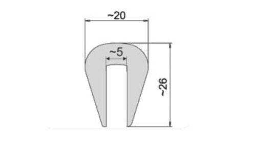 Kantenschutz Rammschutz Stoßkante Scheuerleiste Gummi Rand Schutz Boot G30 PVC