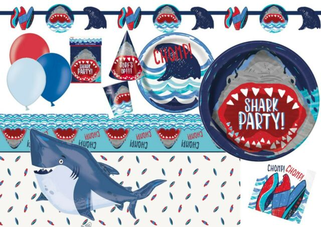 Shark Splash Photo Booth Prop Banner Birthday Decoration Shark Party Supplies