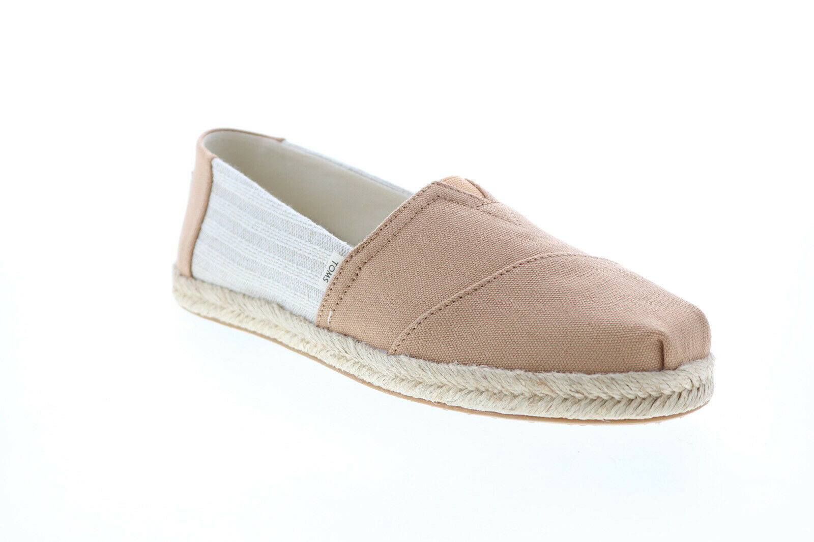 Toms Classic 10013479 Womens Brown Canvas Slip On Loafer Flats Shoes 8.5