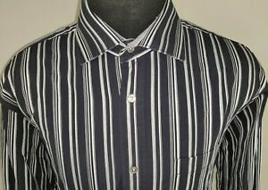 Bugatchi-Uomo-Mens-Classic-Fit-Long-Sleeve-Button-Down-Shirt-Size-XL-Striped