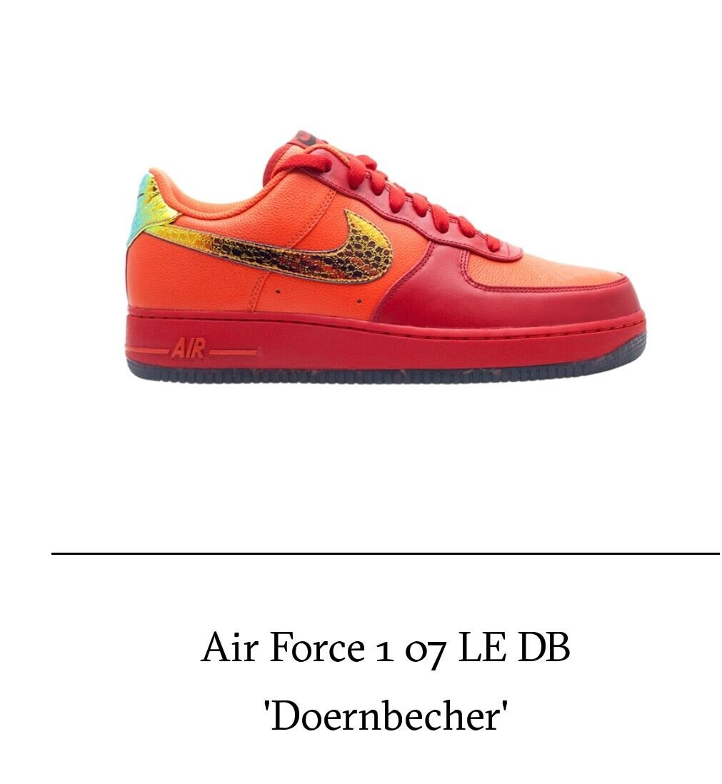 NIKE AIR FORCE 1 DOERNBECHER LE DB 349440-800 MENS SIZE 7 WMNS SIZE 8.5