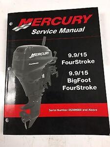 mercury mariner service shop repair manual 9 9 15 hp 4 stroke 90 rh ebay com Mercury 15 HP 15 HP Mercury Outboard