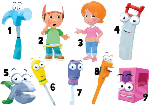 HANDY MANNY  WALL DECAL OR IRON ON TRANSFER TSHIRT FABRICS LOT HM