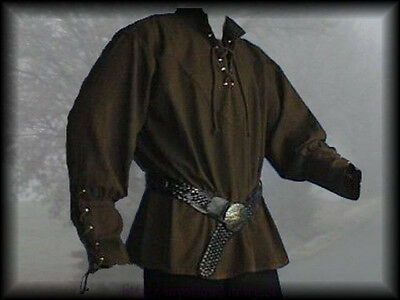 Medieval Shirt Laced Up Pirate Reenactment SCA Renaissance Landlord Knight
