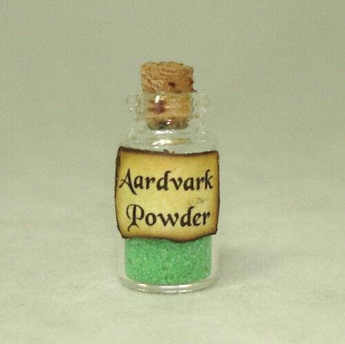 Aardvark Powder GREEN Halloween Witches Brew Magic Potion Dollhouse Miniatures