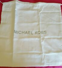 NEW MICHAEL KORS WHITE MK DRAWSTRING DUST BAG 13 X 13
