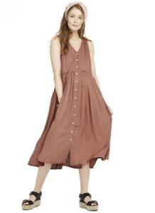 Hatch Maternity Women S The Anais Dress Sienna Pink Size 1 S 4 6 New Ebay