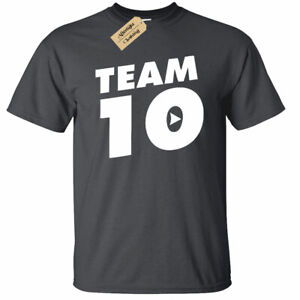 KIDS-BOYS-GIRLS-Jake-Paul-Logan-Team-10-T-Shirt-top-you-tuber-Funny-Maverick
