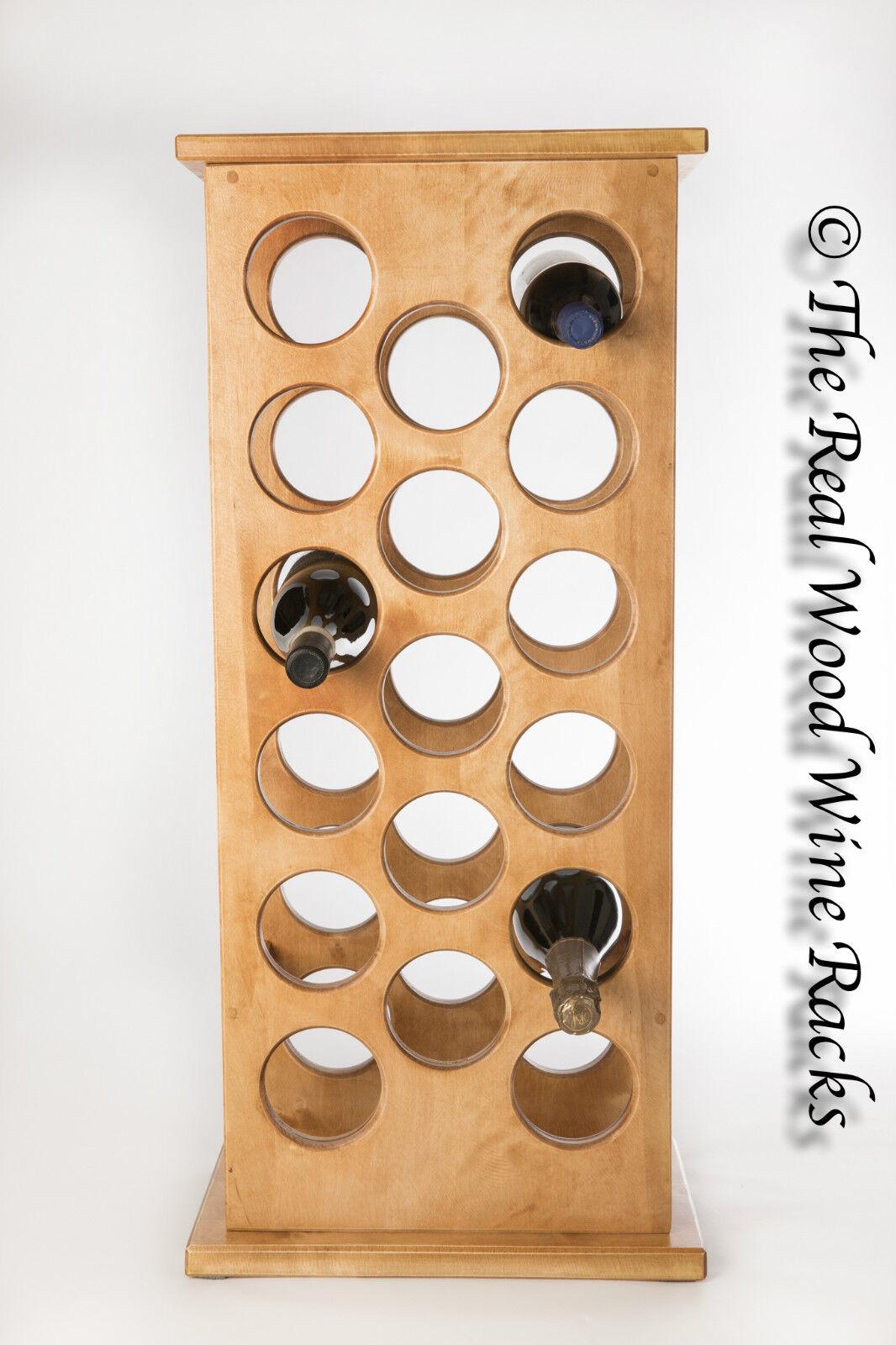 Nouveau en bois véritable casier à vin armoire, 17 bouteilles, flamingo 17 chêne clair, cuisine bar