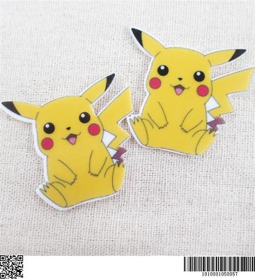 Pikachu Pokemon flatback laser cut resins and embellishments