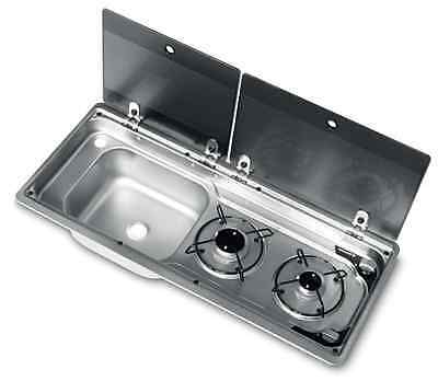 Smev Dometic 9722 Compact Campervan sink /  cooker unit 9222 T4 T5 LH & Template