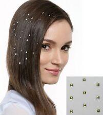 Accessoire tendance , bijou cheveu strass hair charmsies , carré doré