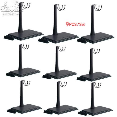 "9PCS 1//6 Sca KUMIK Adjustable U-Shape Square Platform Bracket Display Stand 12"""