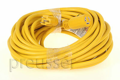 Hubbell Carol Twist Lock Power Cord For Carpet Cleaning  50/' Extension Cord
