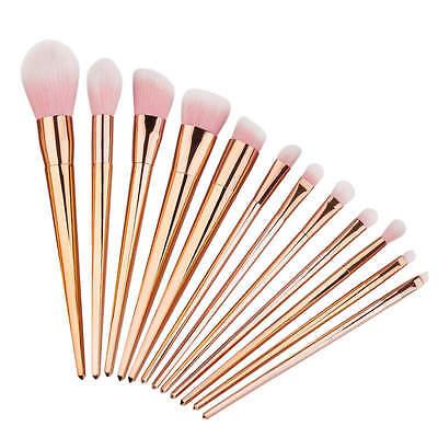 12pcs Pro Makeup Brushes Set Powder Foundation Eyeshadow Eyeliner Lip Brush Tool