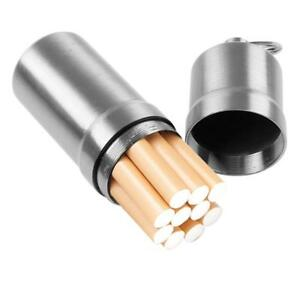 Portable-Sealed-Waterproof-Metal-Cigarette-Case-10-Cigarettes-Holder-Box-Silver