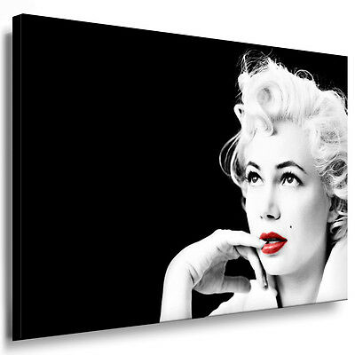 Marilyn Kunstdruck Monroe Keilrahmenbild Poster auf Leinwand Bild Gemälde Deko 3