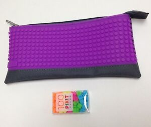 Cassidy Labs Pixit Pencil Pouch Carrying Case Purple Decorate W
