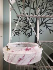 LOVELY VINTAGE GLASS HANGING LAMPSHADE