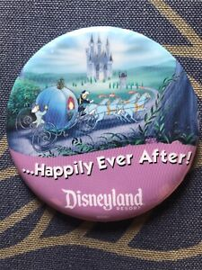Button Pin Cinderella RETIRED Disney Disneyland Exclusive ...Happily Ever After