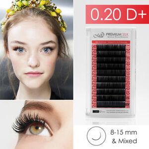 27227f3e773 0.20 D+ Synthetic Silk Lash Individual Eyelash Extension Semi ...