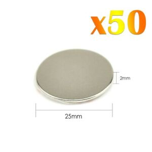 50x-Neodymium-Self-Adhesif-Fort-Rond-Magnet-Super-Craft-Disc-NdFeb-N42-Grade