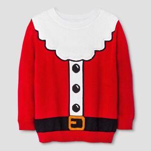 Details about Cat \u0026 Jack Toddler Infant Kids Boys\u0027 Christmas Santa Suit Red  Ugly Sweater