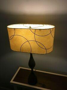 OVAL-Mid-Century-Vintage-Style-Fiberglass-Lamp-Shade-Modern-Atomic