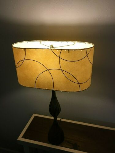 Lamps Lighting Oval Mid Century, Lamp Shades Old Style