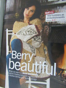 BERRIES amp LEAVES BLANKET KNITTING PATTERN magazine extract pattern - UK, United Kingdom - BERRIES amp LEAVES BLANKET KNITTING PATTERN magazine extract pattern - UK, United Kingdom