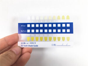 Image Is Loading Tooth Bleaching Comparison Chart Dental Teeth Whitening Shade